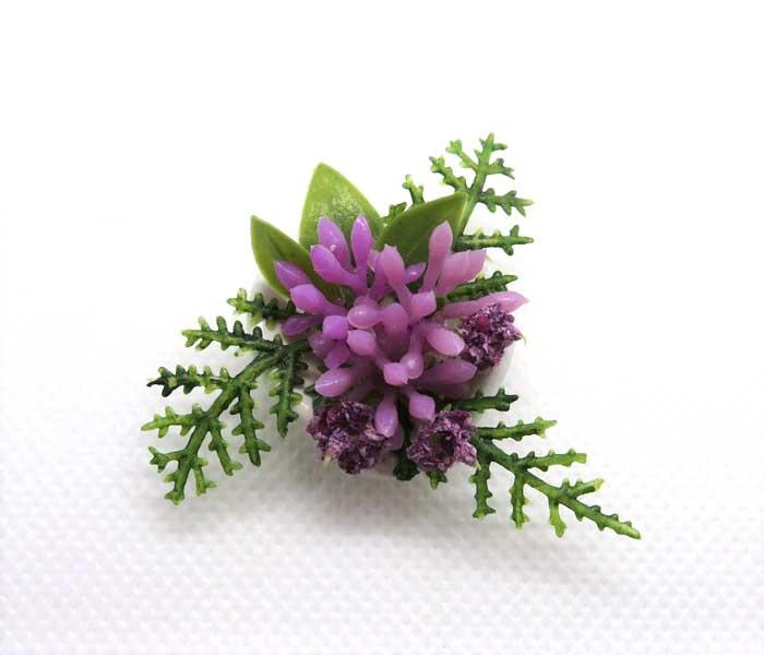 画像2: テーブルフラワー・赤紫
