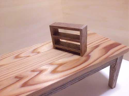 画像2: 机(おまけ小さな棚付き)