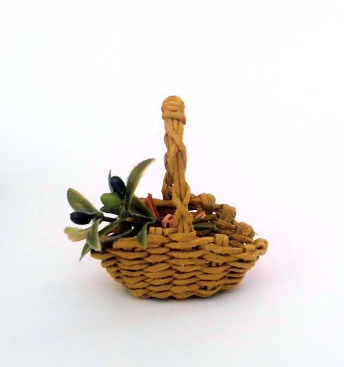 画像1: 収穫の籠(オリーブ)