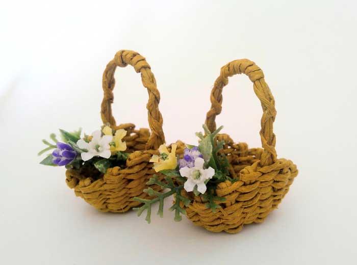 画像3: 花摘みの籠(3色の花)