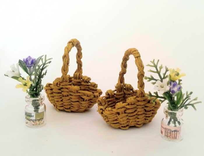 画像4: 花摘みの籠(3色の花)
