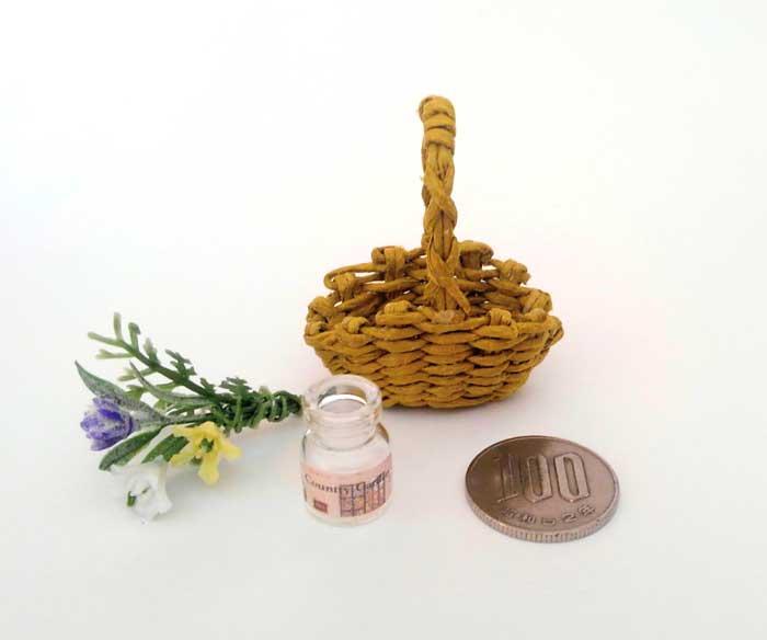 画像2: 花摘みの籠(3色の花)