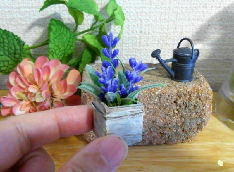 画像3: ウッドボックスの青いお花