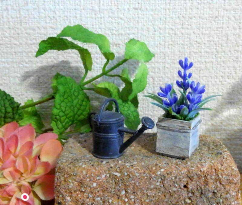 画像4: ウッドボックスの青いお花