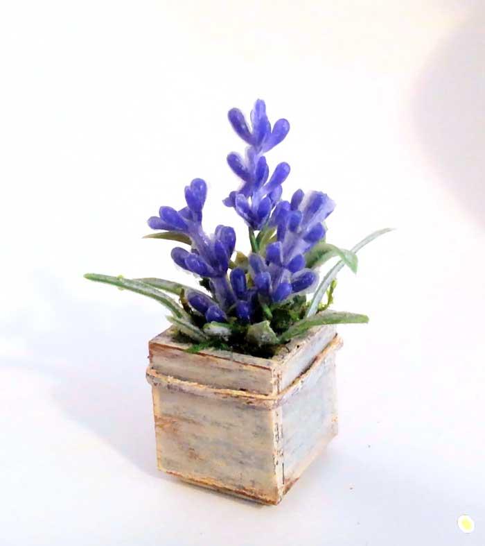画像1: ウッドボックスの青いお花