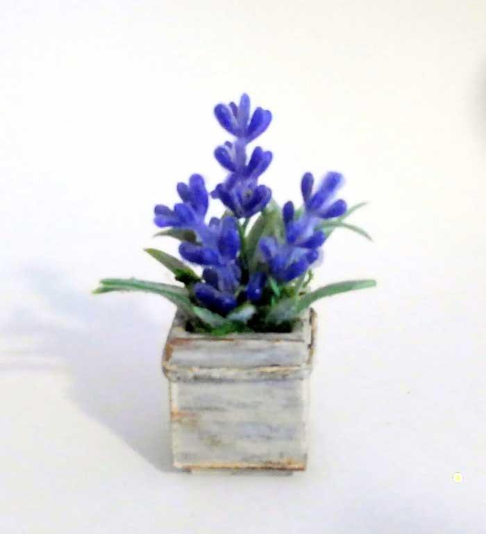 画像2: ウッドボックスの青いお花