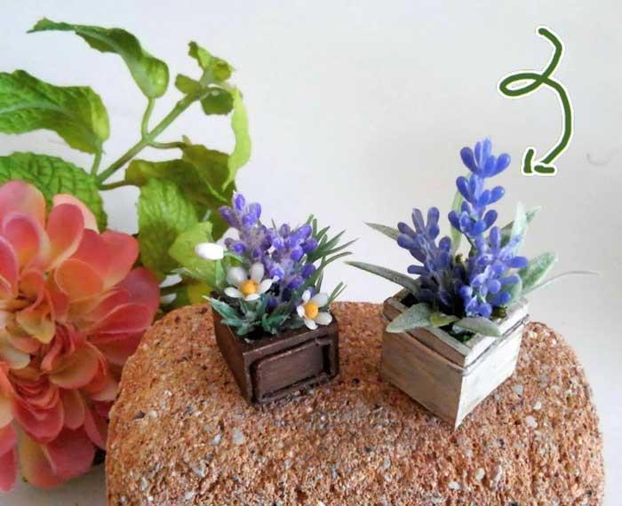 画像5: ウッドボックスの青いお花