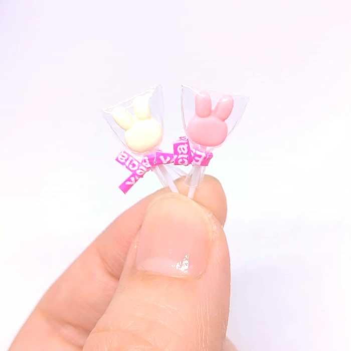 画像2: 棒キャンディーうさぎ(いちご)