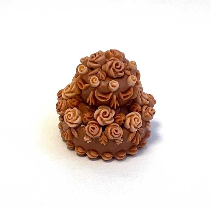 画像2: バラのデコレーションケーキ・2段(チョコ&チョコ)