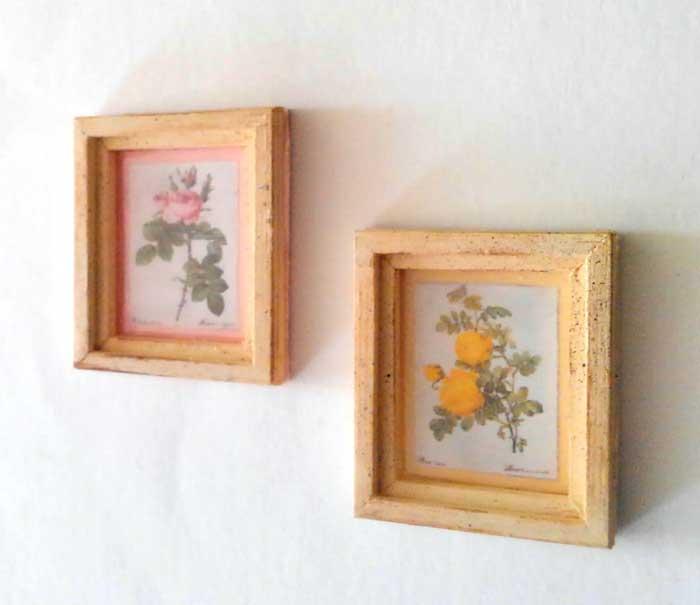 画像2: ピンクと黄色の薔薇のフレーム(オフホワイト)