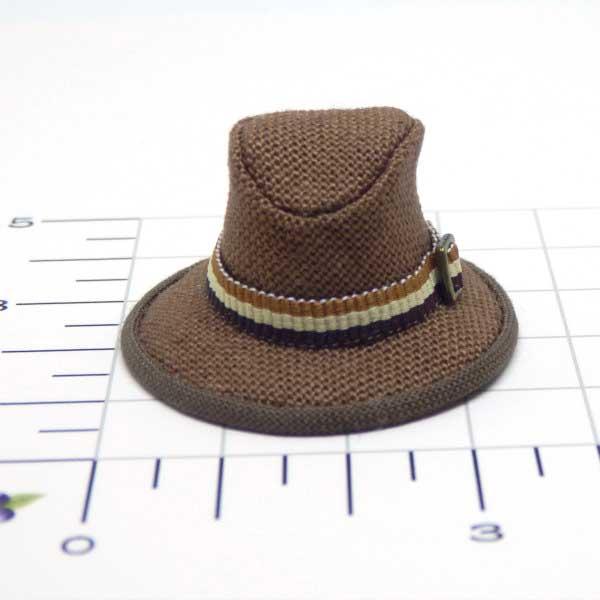 画像1: 中折れ帽子 ブラウン