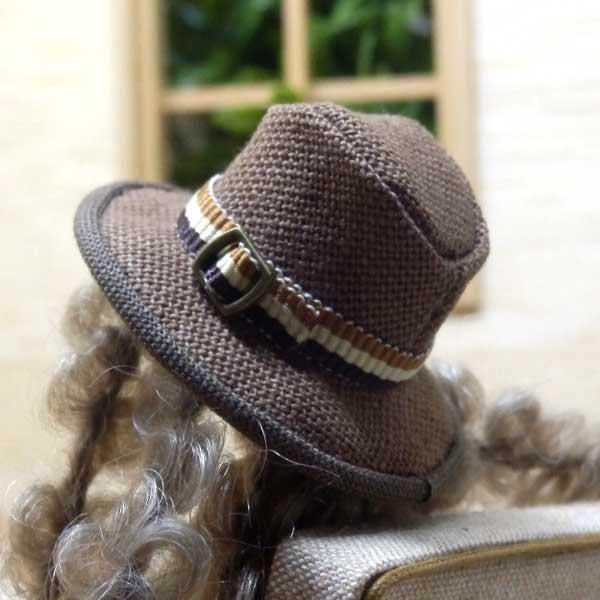 画像3: 中折れ帽子 ブラウン