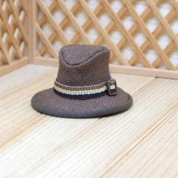 画像2: 中折れ帽子 ブラウン