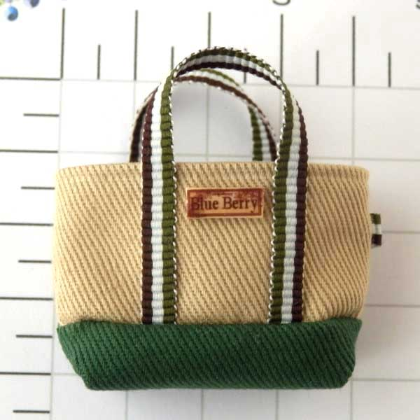 画像1: トートバッグ 緑
