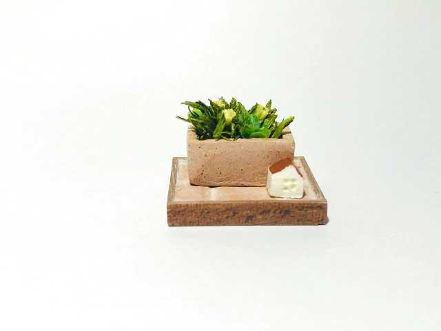 画像2: 長方形テラコッタ寄せ植え
