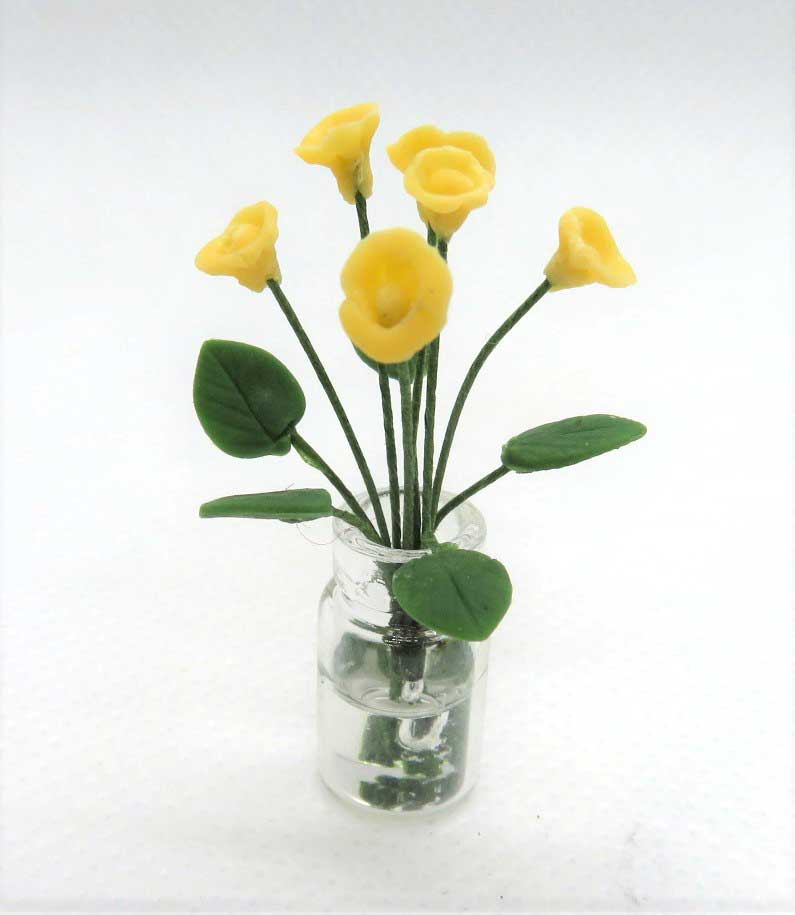 画像1: 黄小花(ガラス瓶入り)