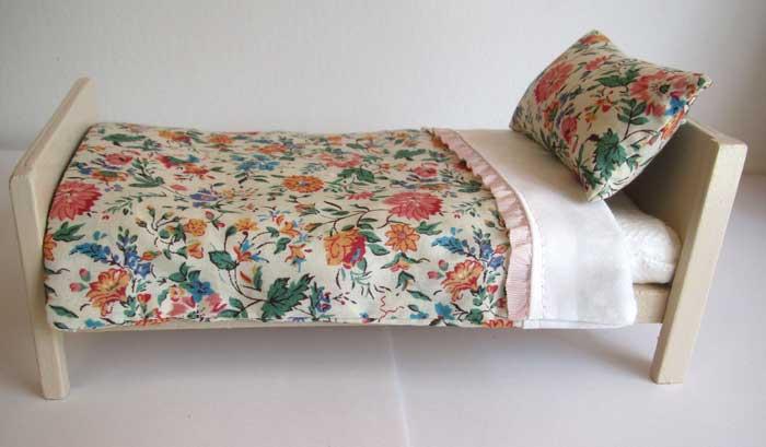 画像3: ベッド&お布団セット(リバティ花柄)
