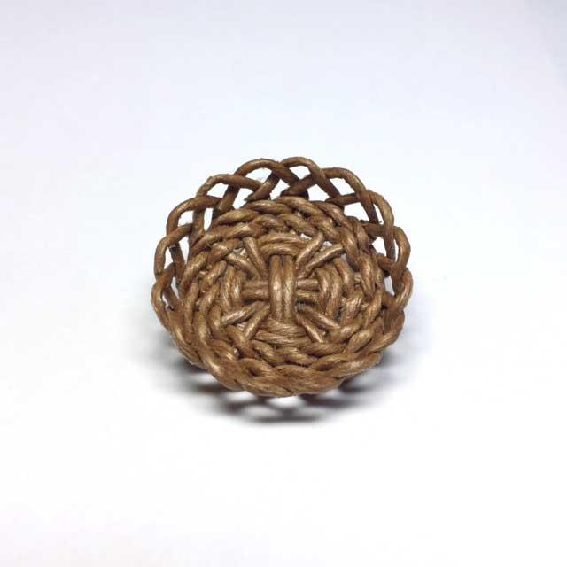 画像1: 盛り籠 円形 マロン