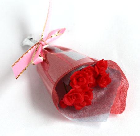 画像1: バラ花束・赤