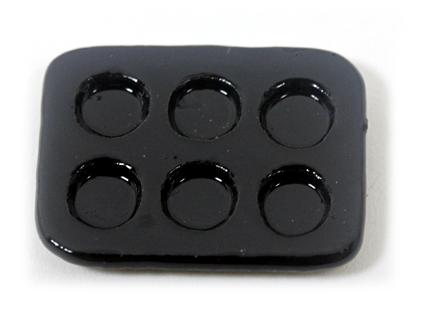 画像1: ミニタルト型・黒