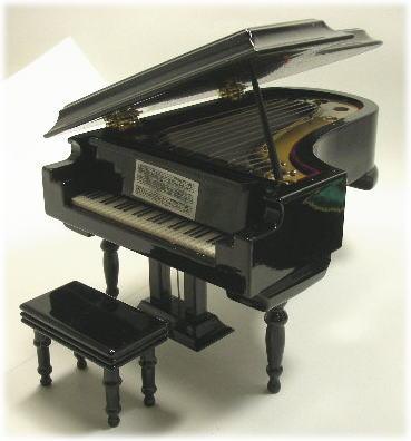 画像1: グランドピアノ黒・ツヤ有り