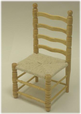 画像1: 木製編み紐イス・ナチュラル
