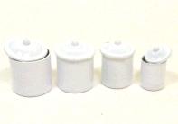 画像1: 白キャニスター4個