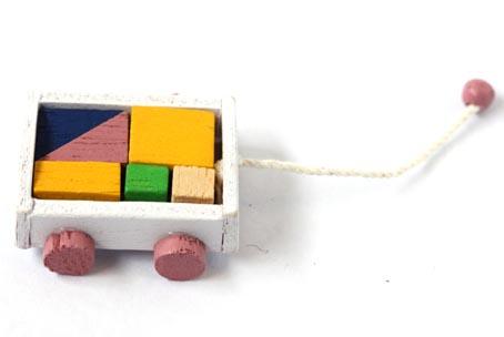 画像1: 積み木カート