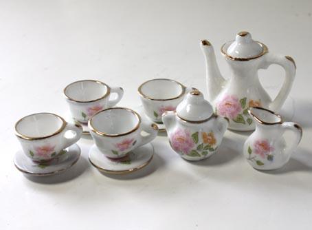 画像1: ピンク牡丹ティーセット・大