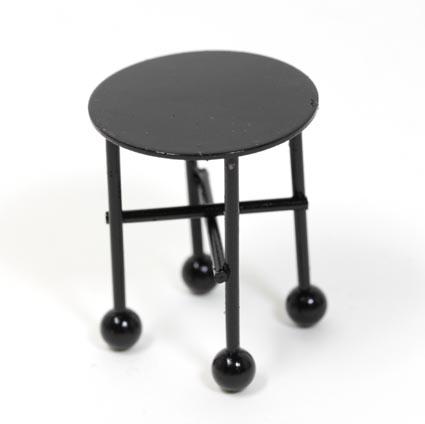 画像1: 黒いミニテーブル