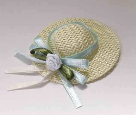 画像2: ブルーバラ付き麦わら帽子