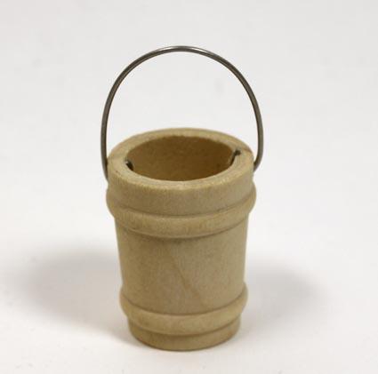 画像1: 木製バケツ