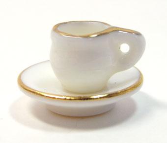 画像1: 陶器金縁カップソーサー1客