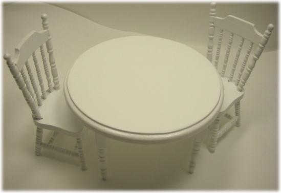 画像1: 丸テーブルセット・ホワイト