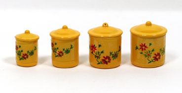 画像1: 黄色いキャニスター4個