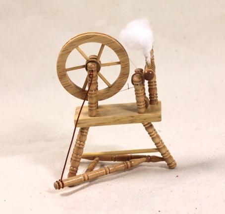 画像1: 糸車・ナチュラル