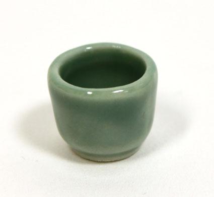 画像1: 陶器小鉢・グリーン
