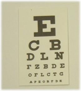 画像1: 視力シート