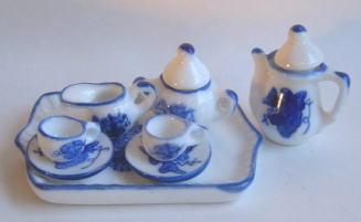 画像1: ミニティーセットトレー付き・青葡萄