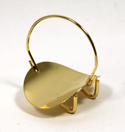 画像1: 薪入れラック・ゴールド