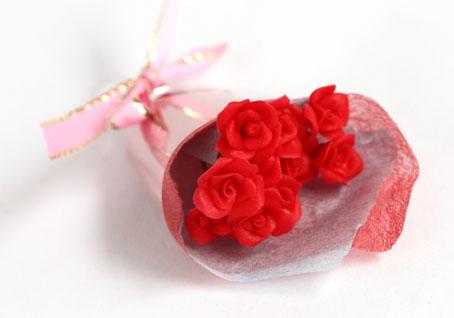画像2: バラ花束・赤
