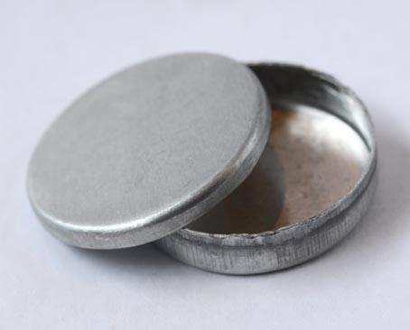 画像1: 丸缶シルバー1個