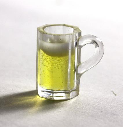 画像1: ビールジョッキ8角グラス