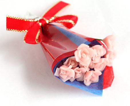 画像1: バラ花束・ピンク