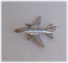 画像1: おもちゃの飛行機・シルバー