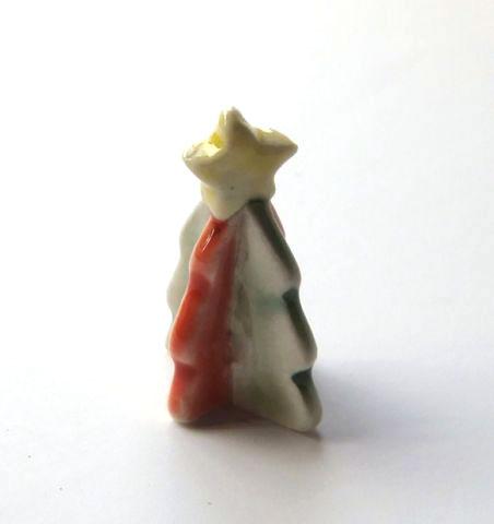 画像1: 陶器の卓上クリスマスツリー(特価)