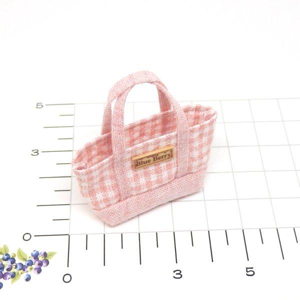 画像2: トートバッグ・ピンク系チェック