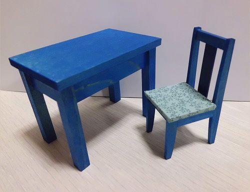 画像2: 青の机セット